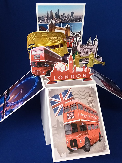 Birthday Card with London Scenes