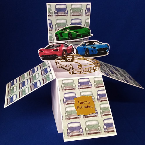 Men's  Birthday Card with Cars