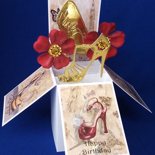 Ladies Birthday Card with Shoes