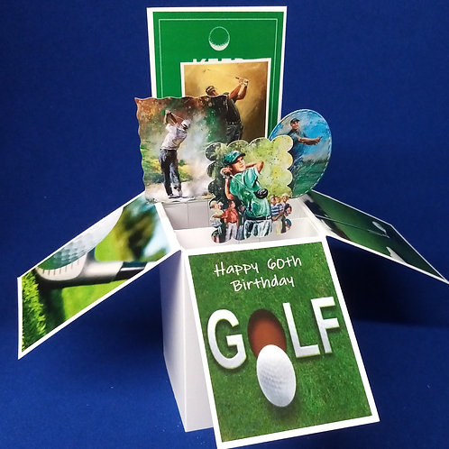 Men's 60th Birthday Card with Golf