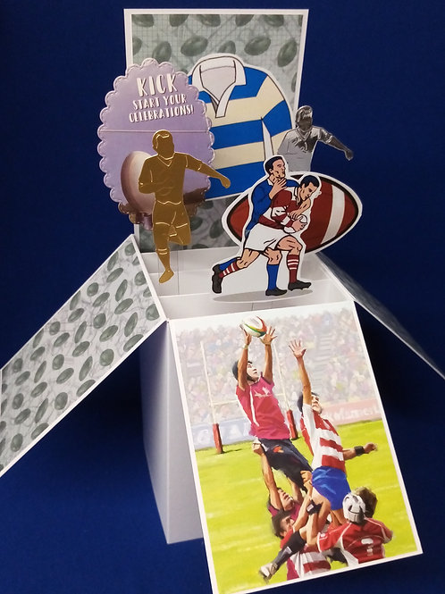 Birthday Card with Rugby
