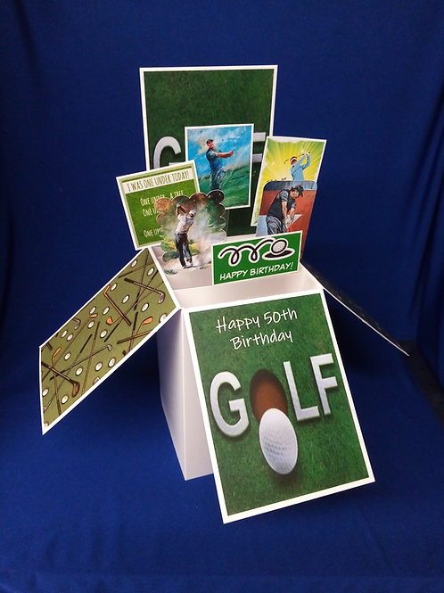 Men's 50th Birthday Card with Golf