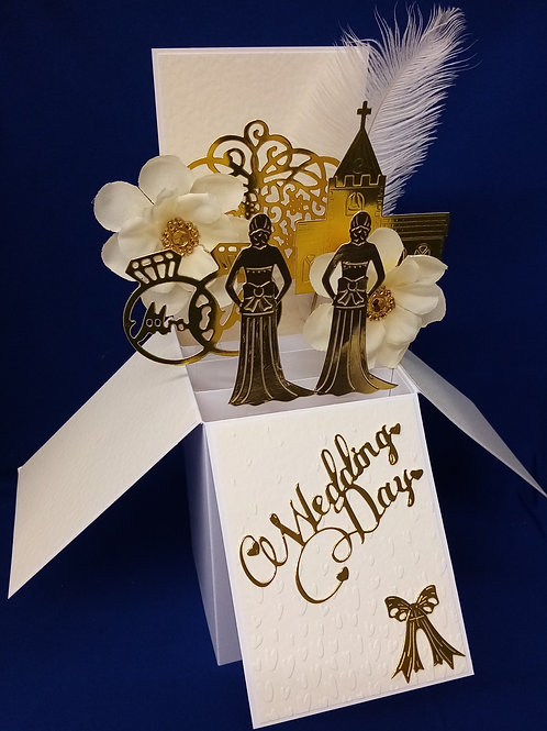 Mrs and Mrs Wedding Card