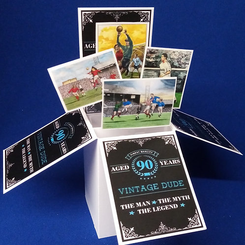 Men's 90th Birthday Card with Football