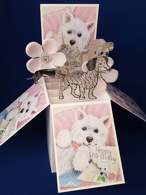 Ladies Birthday Card with Dogs