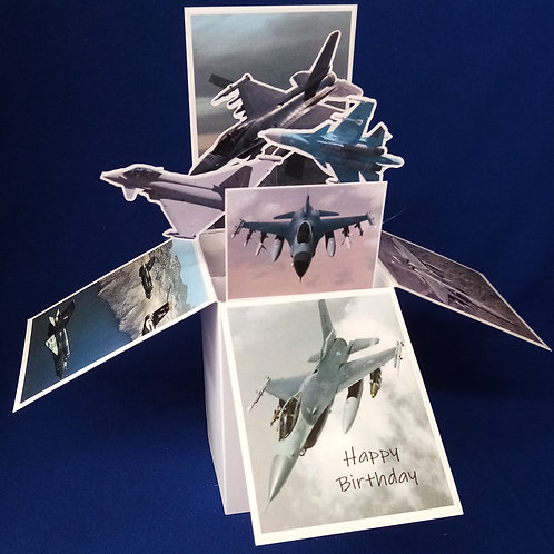Birthday Card with Fighter Planes