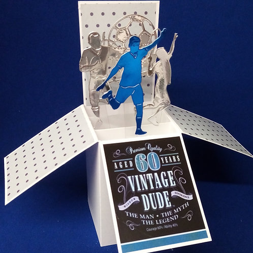 Men's 60th Birthday Card with Football