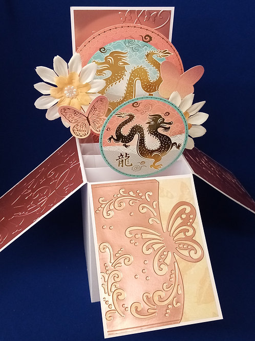 Ladies Birthday Card with Dragons