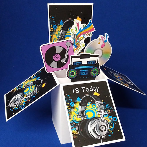 18th Birthday Card with Music
