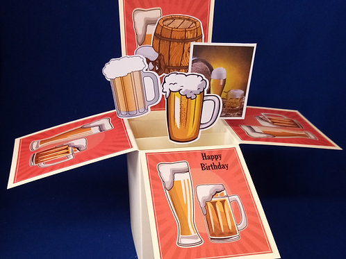 Birthday Card with Beer