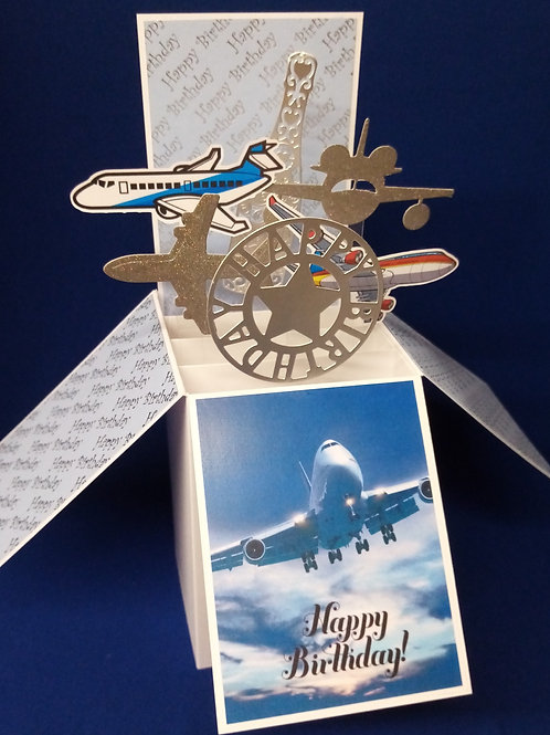 Birthday Card with Planes