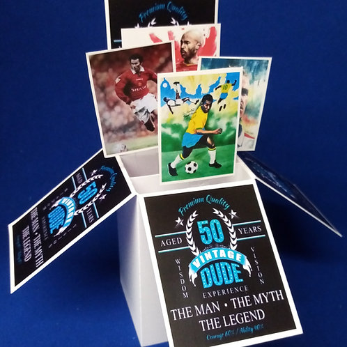 Men's 50th Birthday Card with Football