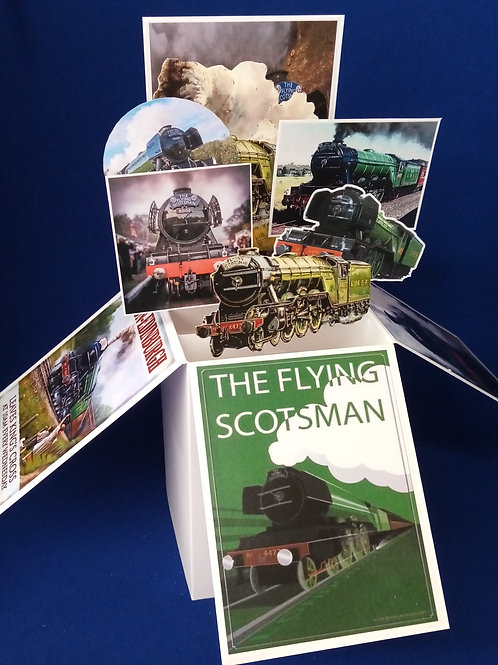 Birthday Card with Trains