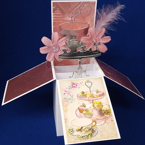 Ladies Birthday Card with Cakes