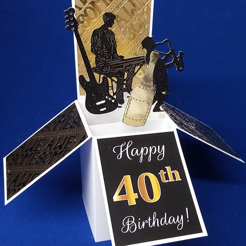 40th Birthday Card with Music