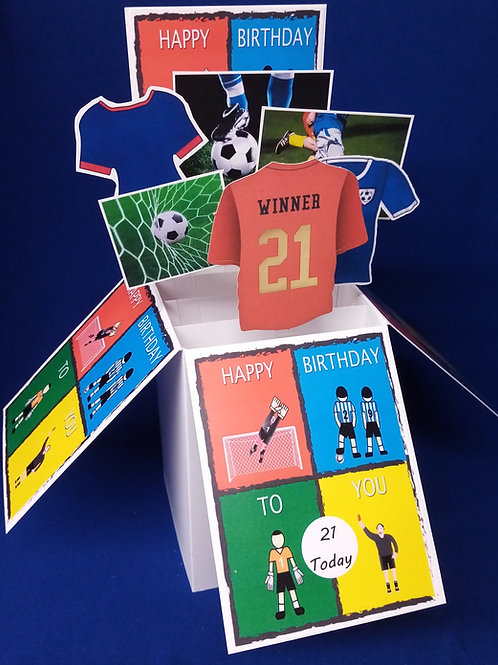 Men's 21st Birthday Card with Football
