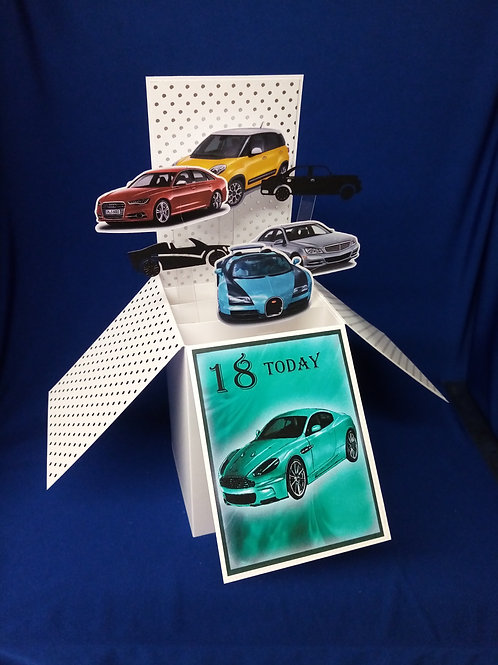18th Birthday Card with Cars