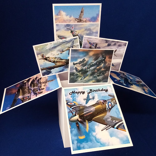 Birthday Card with Spitfires