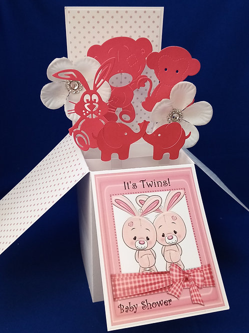 Baby Shower Card for Twin Boy and Girl