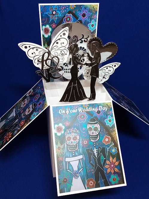 Wedding Card with Sculls