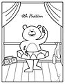 Coloring Pages - Dancing Bears - Fourth