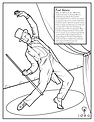 Coloring Pages - Famous Dancers - Fred A
