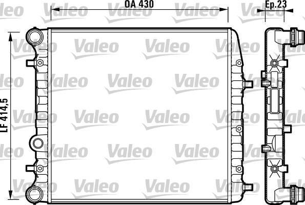 RADIADOR VW POLO CROSSFOX 1.6 C/A