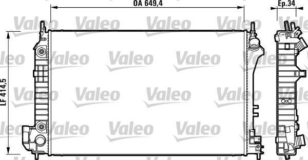 RADIADOR GM OPEL VECTRA 2.0 AUTOM.