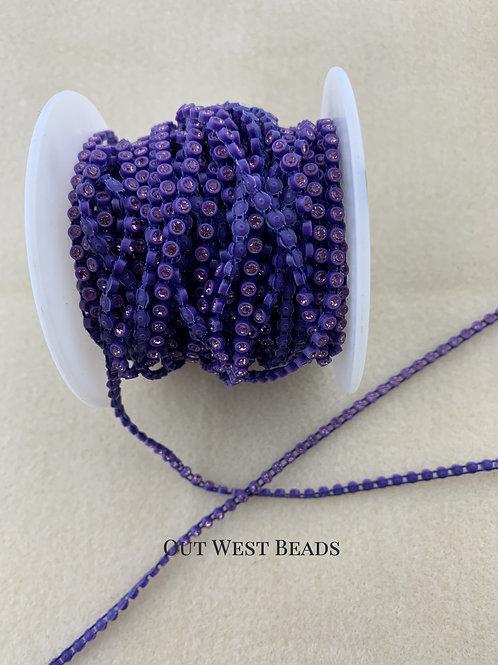 Crystal Banding - Purple on Purple