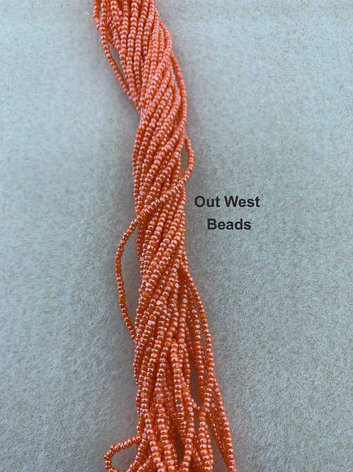 Size 13 Cut Beads Opaque Coral