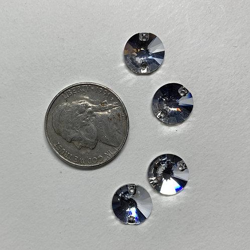 Crystal 10mm Round Flat Back
