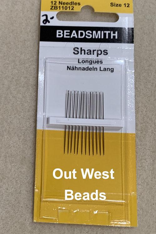 Beading Needles Size 12 Short Sharps