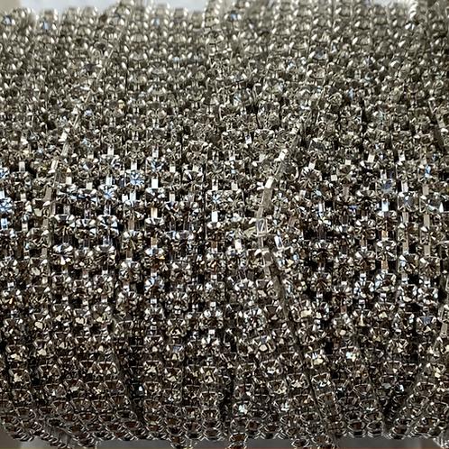 Black Diamond in Silver Plate - 8.5ss Metal Banding