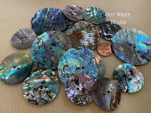 Abalone Buttons - 2""