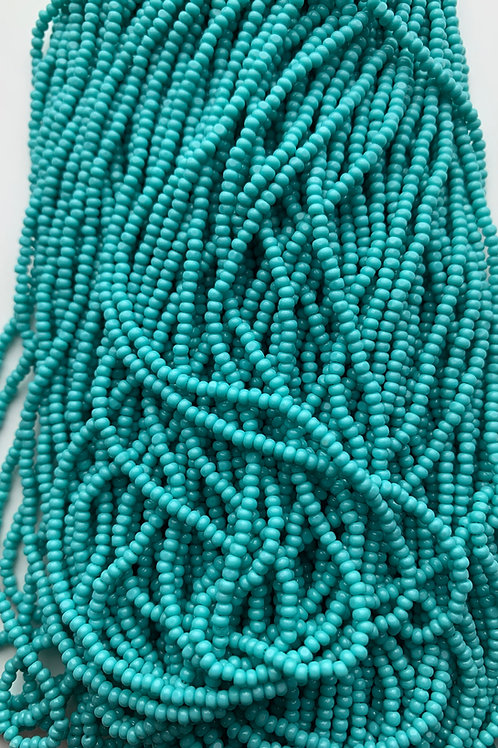 Opaque Turquoise Cut Beads - 37022