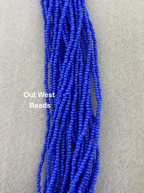 Size 13 Cut Beads Light Royal Blue