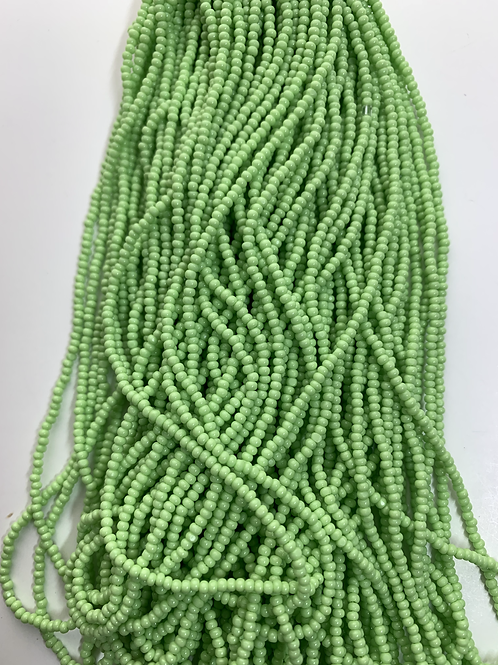 Opaque Pale Green Cut Beads - 37019