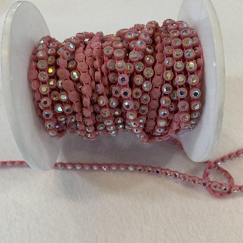 Crystal Banding SS13 - Crystal AB on Pink