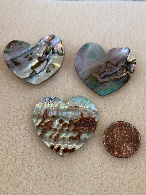 Abalone Heart Buttons