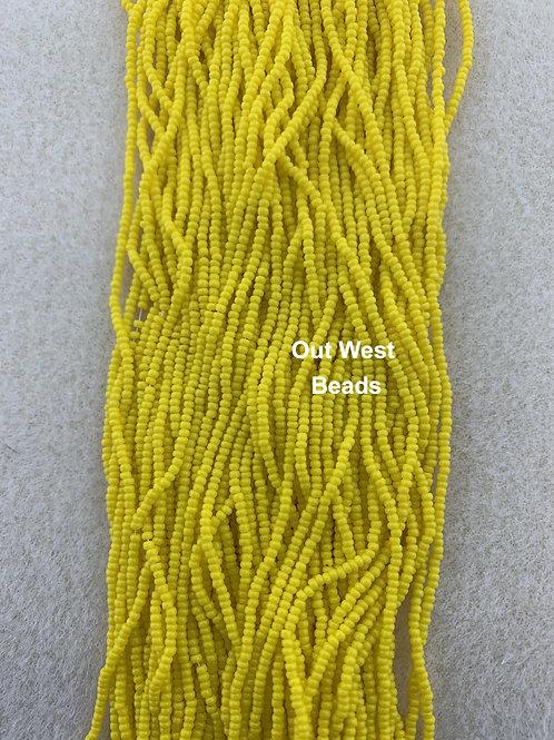 Size 13 Seed Beads Dark Yellow - 132