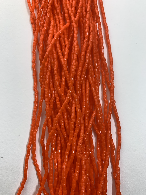 Dark Orange Tri-Cut Beads - 231