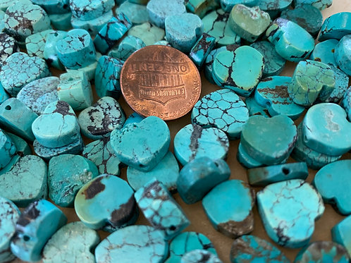 Turquoise Heart Beads