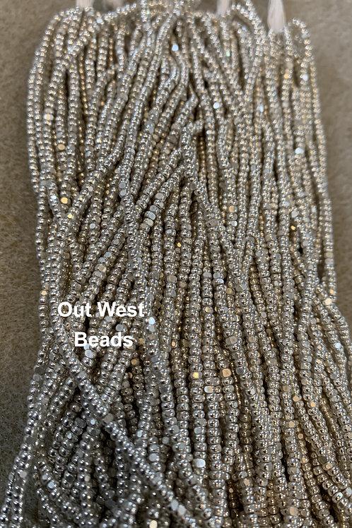Size 11 Cut (Charlotte) Beads Metallic Silver