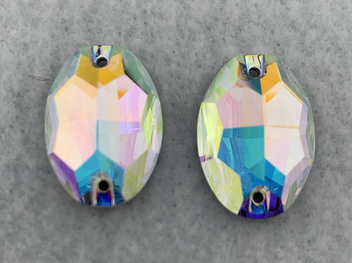 Crystal AB Ovals - 24 x 17mm