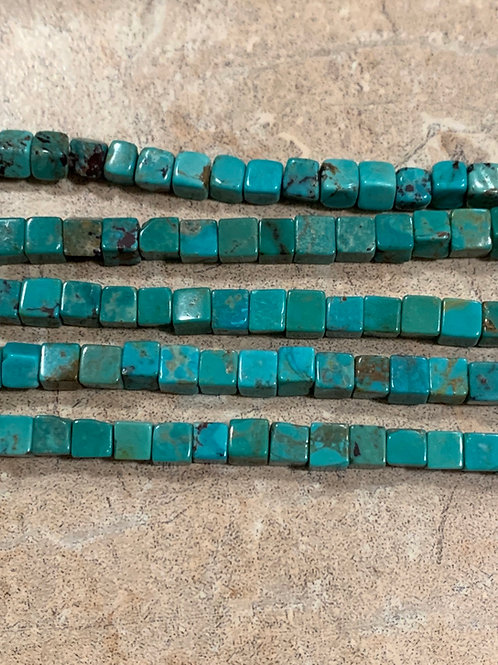 Turquoise Cube Beads