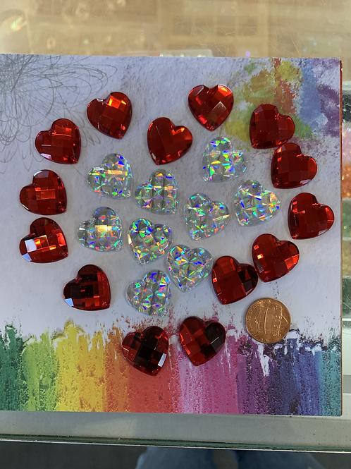 Sew Down Acrylic Heart 20mm
