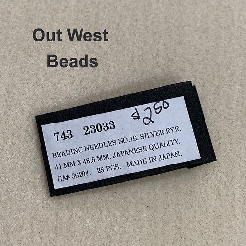 Beading Needles Short Size 16