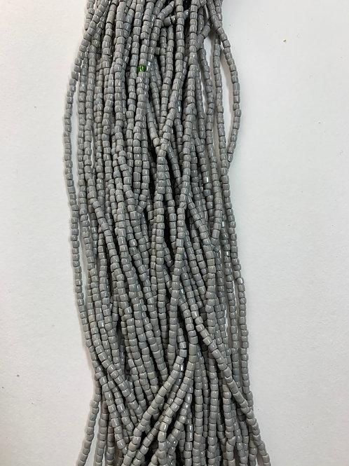 Opaque Grey Tri-Cut Beads - 396
