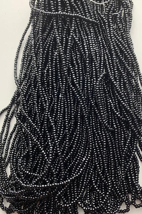 Opaque Black Cut Beads - 37000