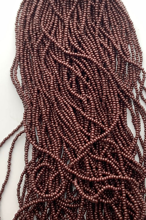 Opaque Dark Brown Cut Beads - 29314